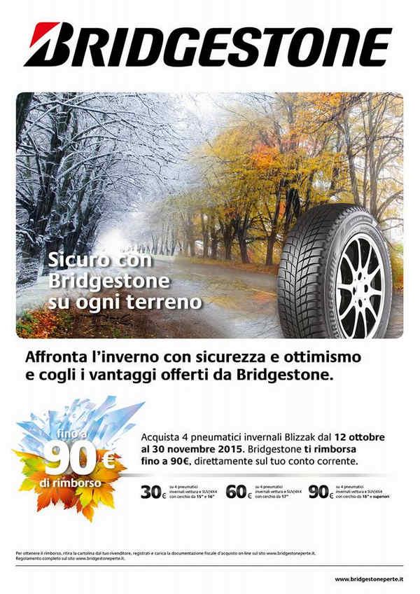 Bridgestone campagna promozione pneumatici invernali