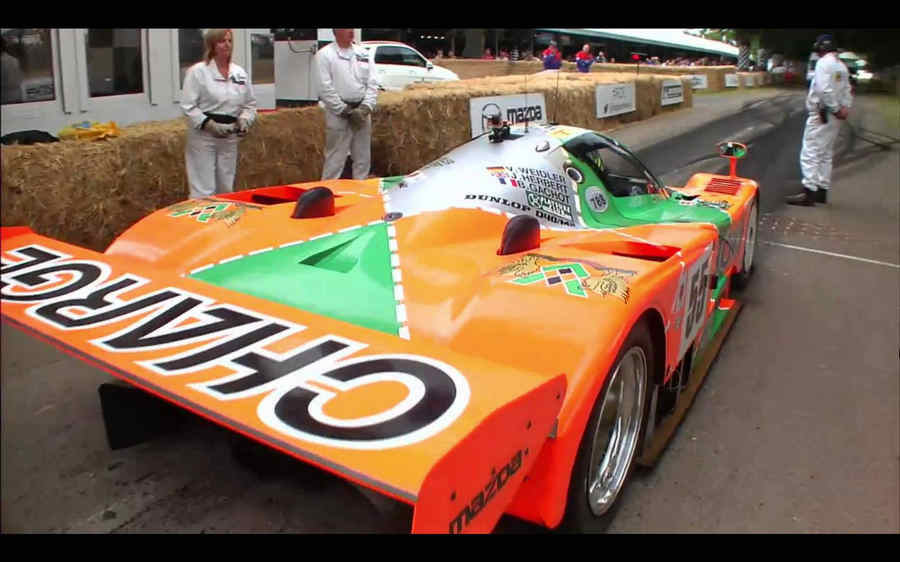 Photo of Valentino Rossi Goodwood Mazda 787B