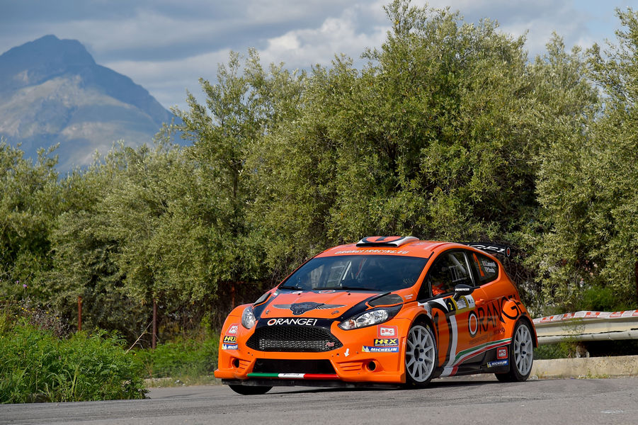 Simone Campedelli, Pietro Elia Ometto (Ford Fiesta R5 #2, Orange1 Racing)