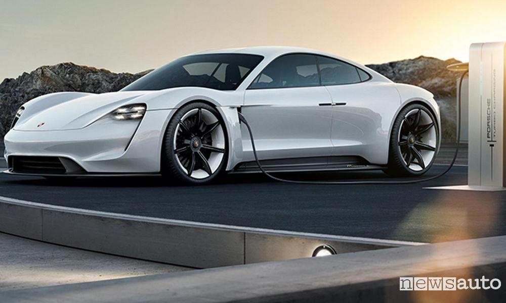 Porsche Mission E auto elettrica ricarica veloce
