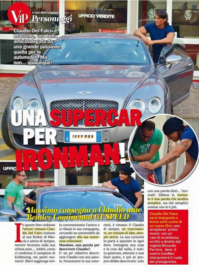 Claudio Del falco attore bentley consegna auto da vip