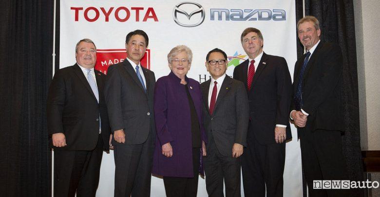 Nuovo stabilimento auto Stati Uniti Mazda e Toyota