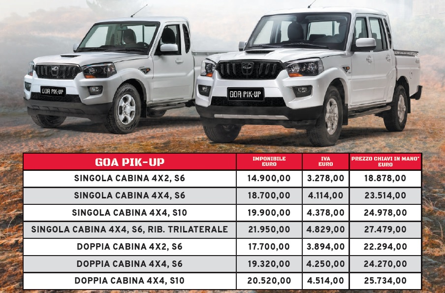 mahindra-goa-pik-up-plus-listino-prezzi FOTO - NEWSAUTO it