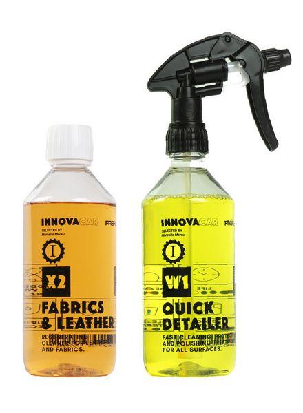 Kit per pulire l'auto Innovacar X2 Fabrics&Leather e W1 Quick Detailer